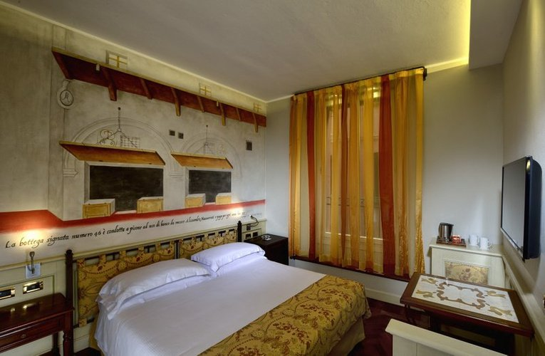 Classic double room art hotel commercianti bologna