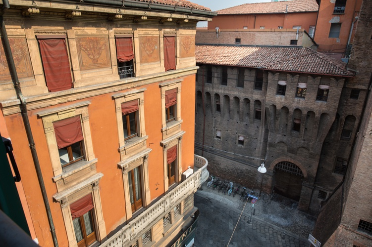 Panoramic view  art hotel orologio bologna
